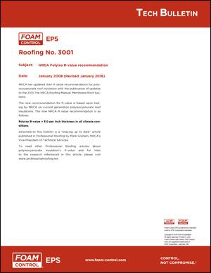 Foam-Control Roofing Tech Bulletin 3001